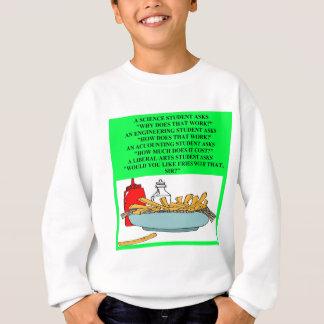 Sweatshirt plaisanterie d'aliments de préparation rapide de