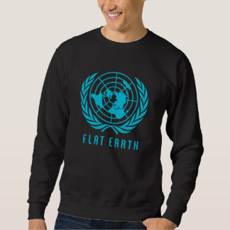 Sweatshirt plat de carte de la terre