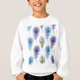 Sweatshirt Plumes de bleu et de violette de paon