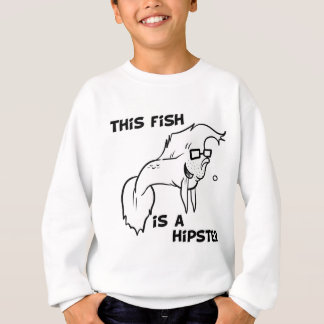 Sweatshirt Poissons de hippie