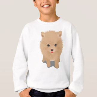 Sweatshirt Pomeranian pelucheux