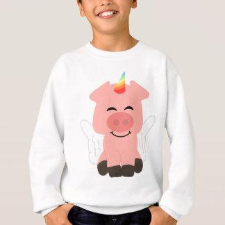 Sweatshirt Porc mignon de licorne de vol