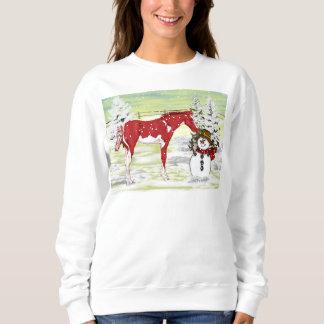 Sweatshirt Poulain et bonhomme de neige de Noël