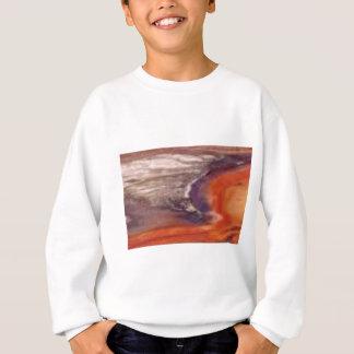 Sweatshirt pourpre et mélange orange