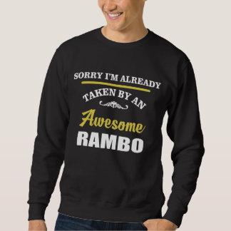 Sweatshirt Pris par un RAMBO impressionnant. Anniversaire de