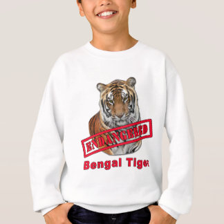 Sweatshirt Produits mis en danger de tigre de Bengale