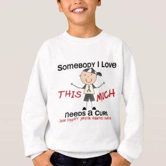 Sweatshirt Quelqu'un amour d'I - diabète de type 1 (garçon)
