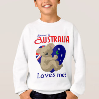 Sweatshirt Quelqu'un en Australie m'aime koala