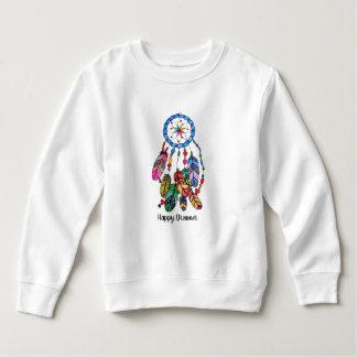 Sweatshirt Receveur de rêve d'arc-en-ciel d'aquarelle et mots