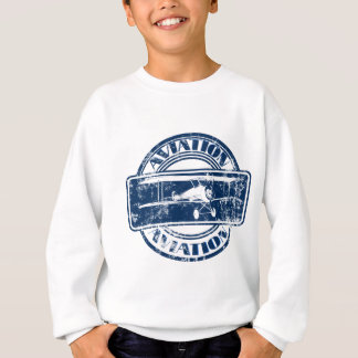 Sweatshirt Rétro art d'aviation