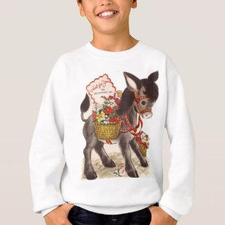Sweatshirt Rétro petite Saint-Valentin douce vintage d'âne
