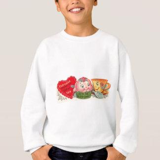 Sweatshirt Rétro Saint-Valentin vintage de petit gâteau et de
