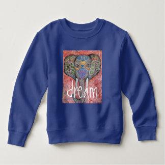 Sweatshirt rêveur d'enfant en bas âge d'éléphant