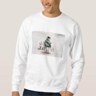 Sweatshirt Rodéo - double exposition - cowboy - cowboy de