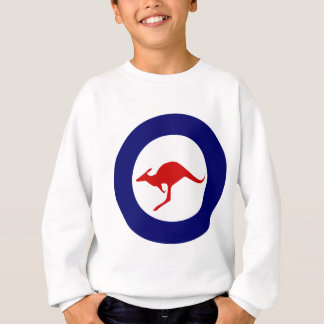 Sweatshirt Rondeau militaire d'aviation de kangourou de