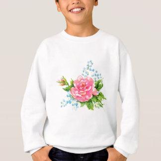 Sweatshirt Roses, jardin vintage