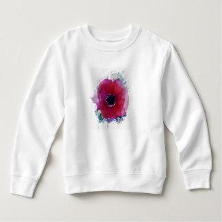 Sweatshirt rouge #1 de fille d'ouatine d'enfant en