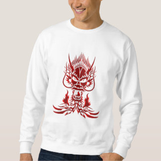 Sweatshirt Rouge de dragon de diable