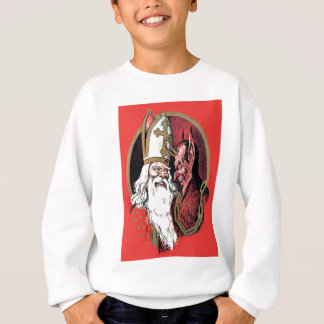 Sweatshirt Saint-Nicolas rouge Krampus