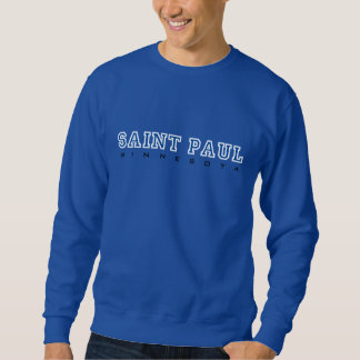 Sweatshirt Saint Paul, manganèse - lettres