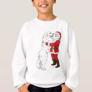 Sweatshirt Salutation de Noël de Grands Pyrénées