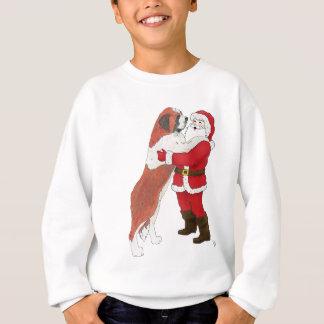 Sweatshirt Salutation Jowly de Noël de St Bernard