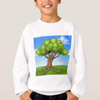 Sweatshirt Scène d'arrière - plan de paysage de champ d'arbre