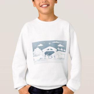 Sweatshirt Scène de chrétien de Noël de nativité