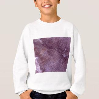 Sweatshirt schéma pourpres courbe