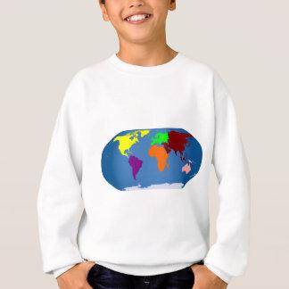 Sweatshirt Sept continents colorés