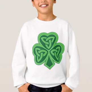 Sweatshirt Shamrock celtique de noeud