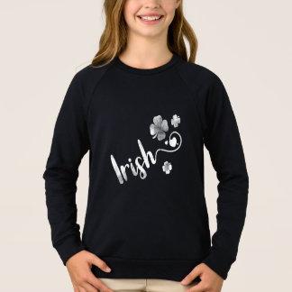 Sweatshirt Shamrock. Le jour de St Patrick. Trèfle irlandais