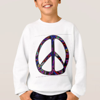 Sweatshirt signe de paix ccolorful