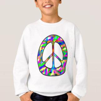 Sweatshirt signe de paix coloré