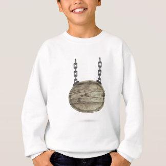 Sweatshirt signe en bois