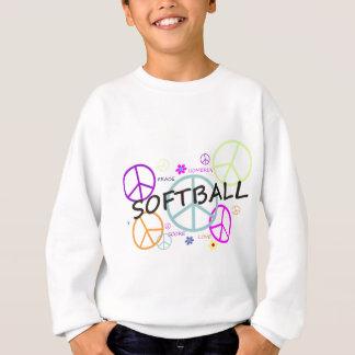 Sweatshirt Signes de paix colorés par base-ball
