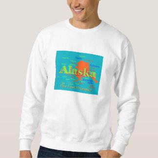 Sweatshirt Silhouette de carte de fierté de l'Alaska