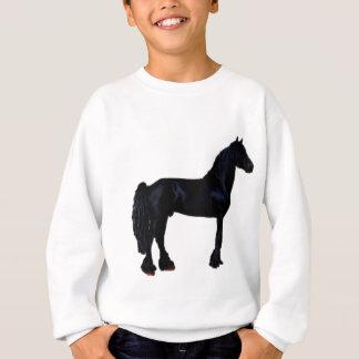 Sweatshirt Silhouette de cheval en noir et blanc
