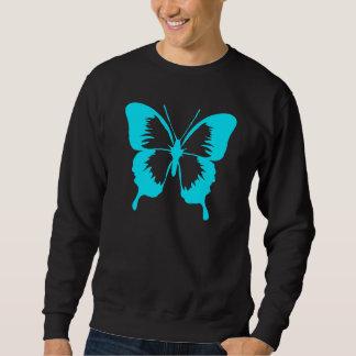 Sweatshirt Silhouette de flottement de papillon de bleu de