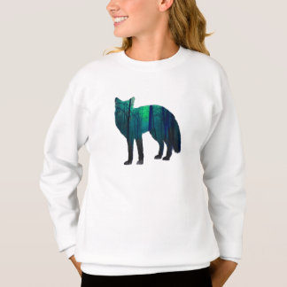 Sweatshirt Silhouette de Fox - renard de forêt - art de