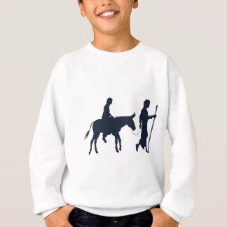 Sweatshirt Silhouettes chrétiennes d'illustration de Mary et