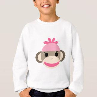 Sweatshirt singe de chaussette de fille