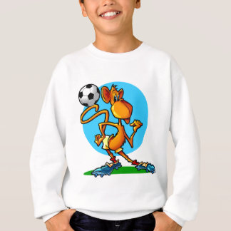 Sweatshirt Singe du football de bande dessinée