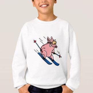 Sweatshirt skiing pig
