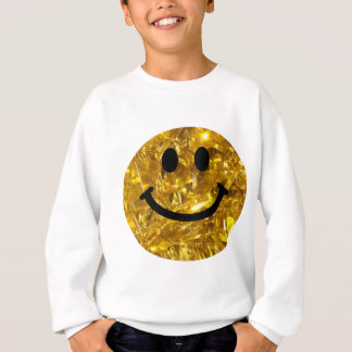 Sweatshirt Smiley scintillant de Bling d'or