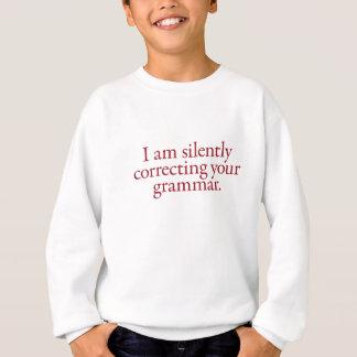 Sweatshirt Snob de grammaire - rouge