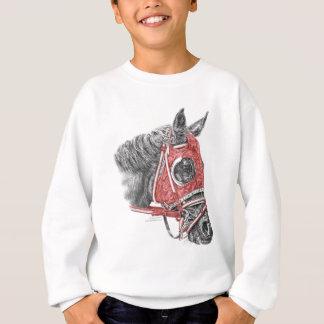 Sweatshirt Soies de portrait de cheval de course