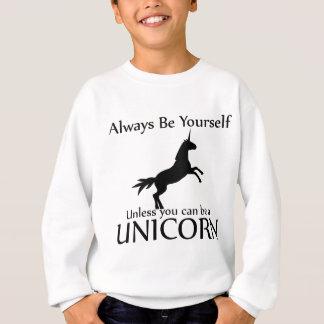 Sweatshirt Soyez vous-même licorne