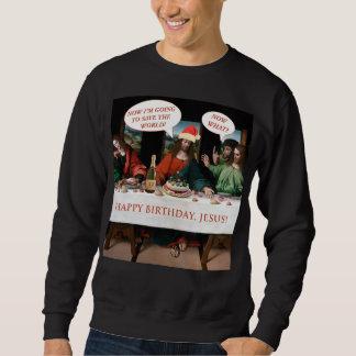 Sweatshirt Style de bandes dessinées de Jésus de joyeux