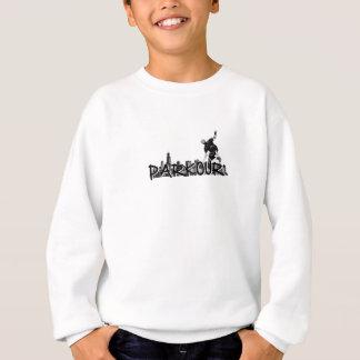 Sweatshirt Style de Parkour Traceur B&W